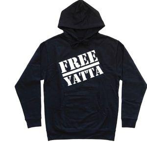 """SALE black """"free yatta public enemy"""" hoodie"""